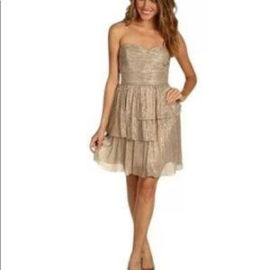 Max And Cleo by BCBG - Metallic Sweetheart dress